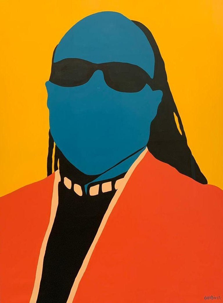 Coco Dávez Portrait Painting - Stevie Wonder