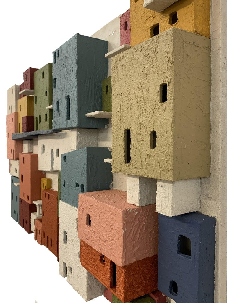 Colorful 3D Wall Art Town  For Sale 1
