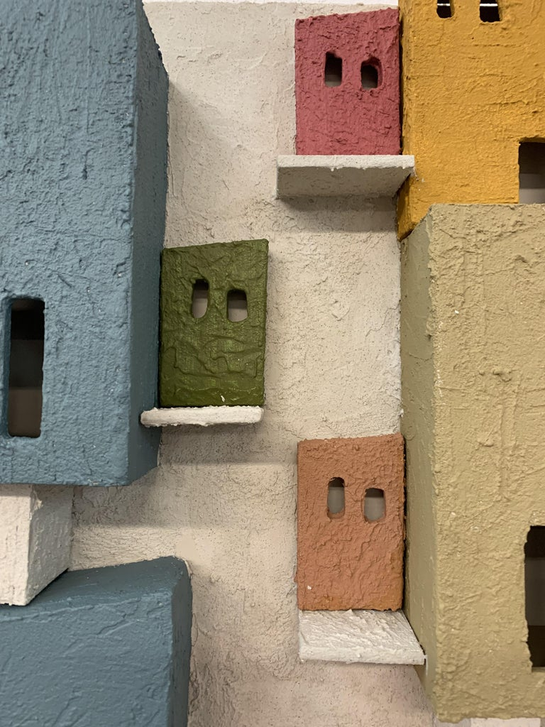 Colorful 3D Wall Art Town  For Sale 2
