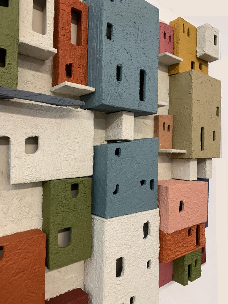 Colorful 3D Wall Art Town  For Sale 5