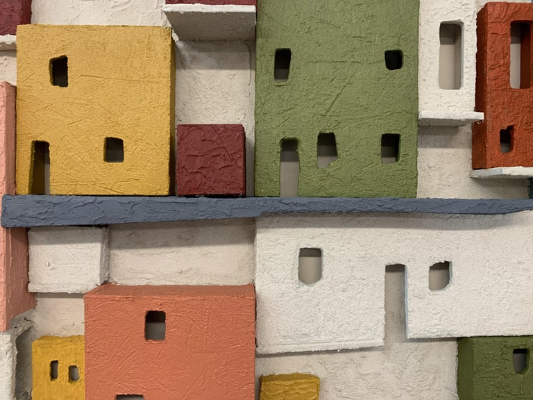 Colorful 3D Wall Art Town  For Sale 3