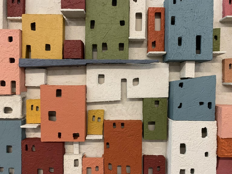 Colorful 3D Wall Art Town  For Sale 4