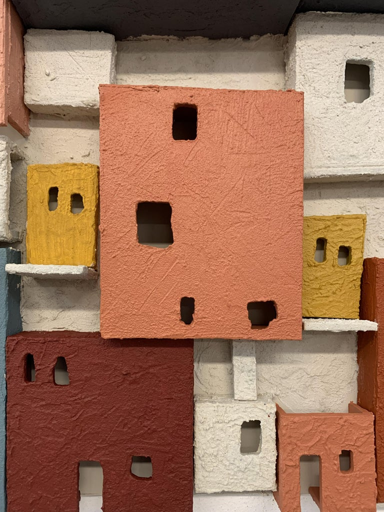 Colorful 3D Wall Art Town  For Sale 6