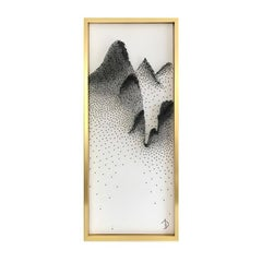 Beautiful Abstract Mountains on Unique Canvass