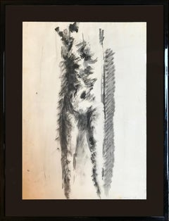 'Nude' Drawing by Vittorio Tavernari in 1957 - Black and White Ink Paper