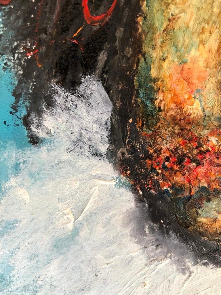 Great Piece by Mexican Painter Sinuhé Villegas - Self Portrait - Pointillist Painting by Sinuhé Villegas