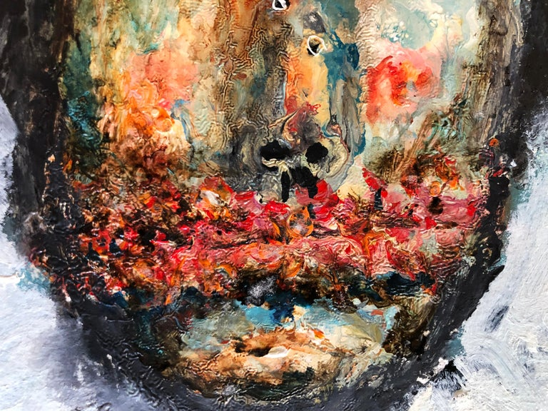 Great piece by Mexican Painter Sinuhe Villegas. Sinuhé Villegas (Guadalajara, Jalisco 1978), a self-taught artist with a trajectory of twenty two years, merges avant-garde techniques to create his own discourse. The question for the specific