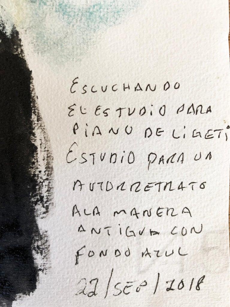 Great Piece by Mexican Painter Sinuhé Villegas - Self Portrait For Sale 2