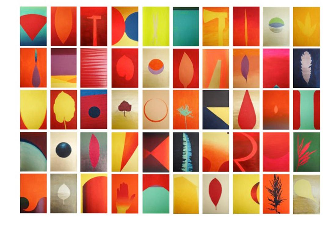 """Paintings on paper """"Nature-Universe-Tool"""" ( 50 pieces folder)"""