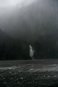 A Sudden Squall, The Stirling Falls, Milford Sound, New Zealand, Autumn 2018