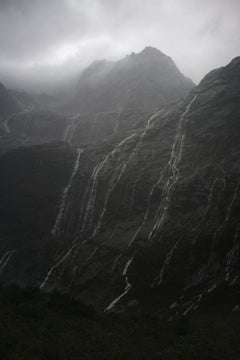 Rain Cascades, Mountains, Fjordland, New Zealand - Contemporary Photography