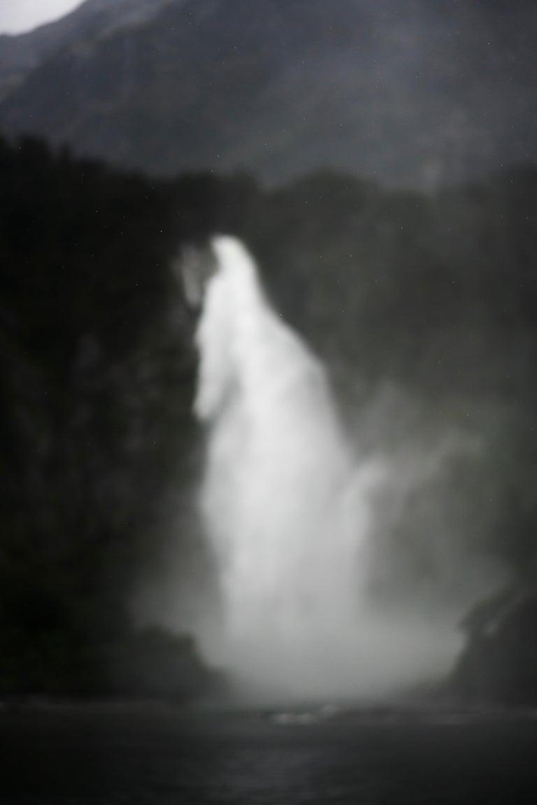 Jem Southam Landscape Photograph - Spray, Belmont Falls, Milford Sound, New Zealand - Contemporary Photography