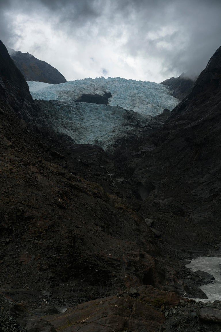 Jem Southam Color Photograph - Clearing Rain, The Franz Josef Glacier, New Zealand - Contemporary Photography