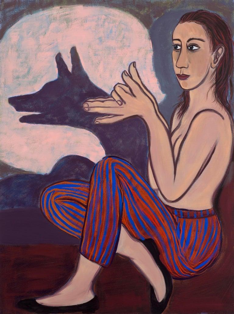 Eileen Cooper Figurative Painting - Shadow Fox, 2012