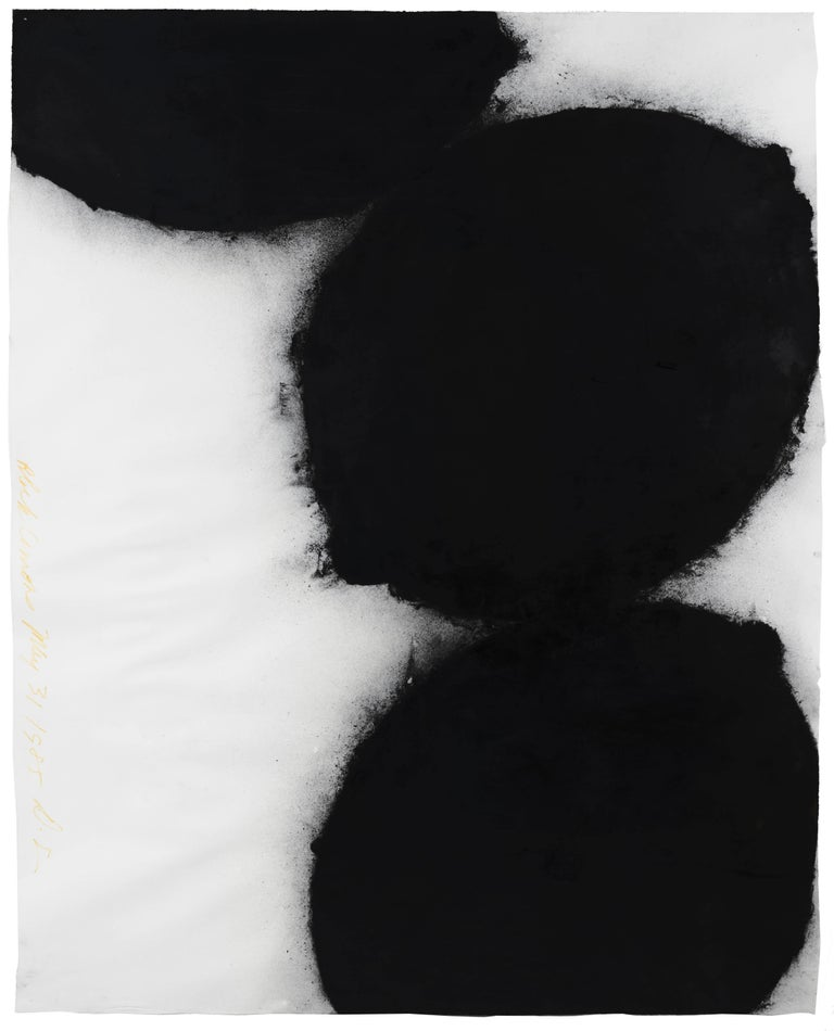 Black Lemons, 31 May 1985 - Donald Sultan (Abstract Drawings and Watercolours) - Art by Donald Sultan