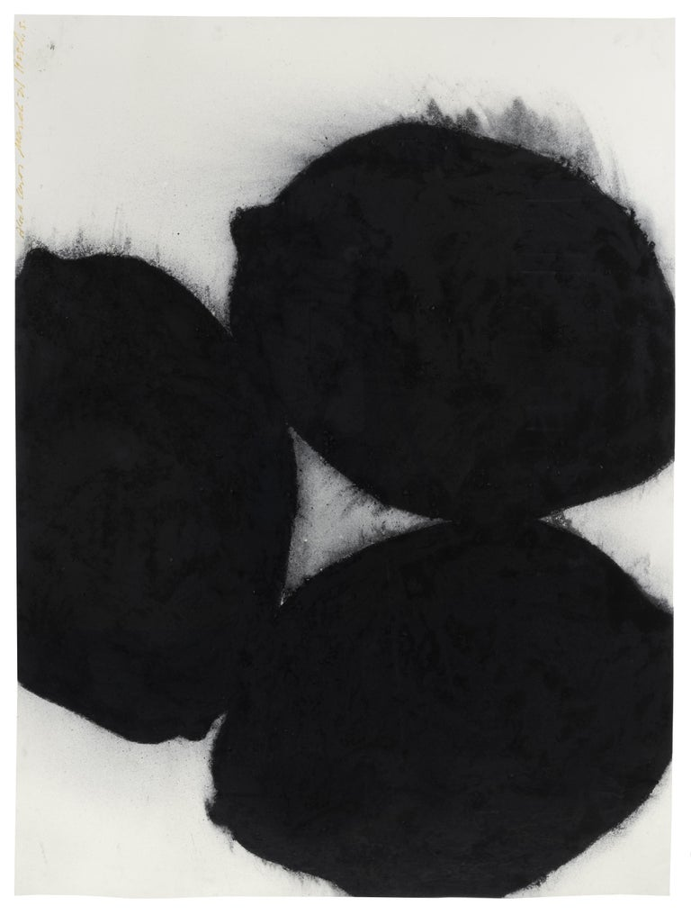 Black Lemons, 21 March 1985 - Donald Sultan (Abstract Drawings and Watercolours) - Art by Donald Sultan