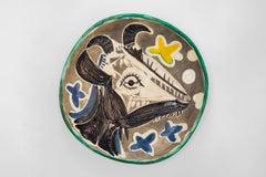 Pablo Picasso - Madoura Ceramic: Goat's Head (Tête de chèvre de profil)