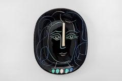 Pablo Picasso - Madoura Ceramic: Woman's Face (Visage de femme)