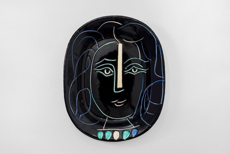 Pablo Picasso - Madoura Ceramic: Woman's Face (Visage de femme) - Art by Pablo Picasso