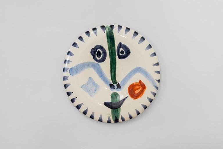 Pablo Picasso - Madoura Ceramic: Face no. 111 (Visage no. 111)  - Art by Pablo Picasso