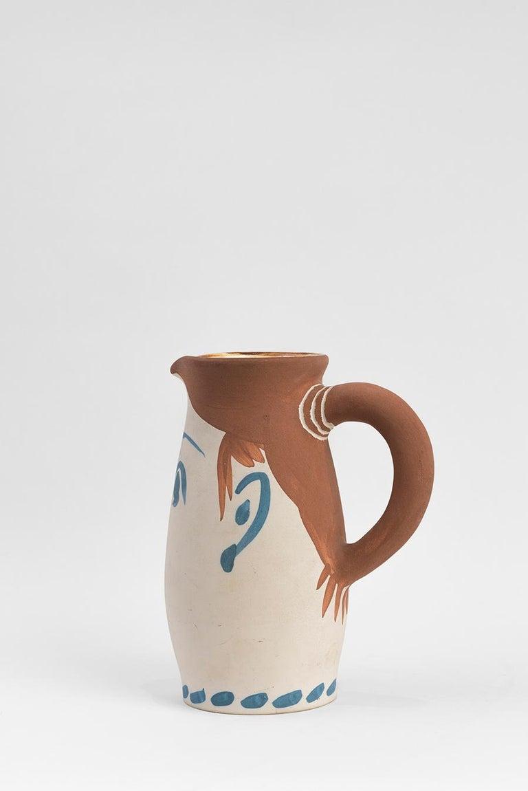 Pablo Picasso - Madoura Ceramic: Face Tankard (Chope visage) For Sale 1