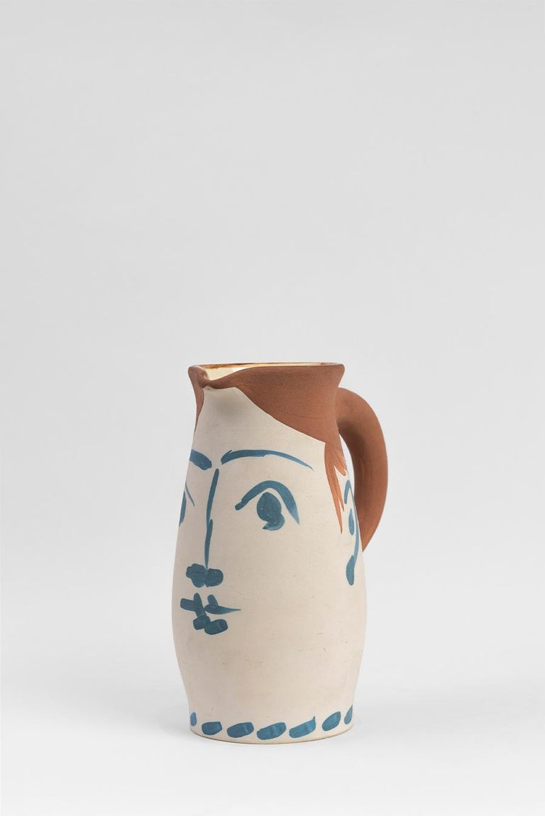 Pablo Picasso - Madoura Ceramic: Face Tankard (Chope visage) - Art by Pablo Picasso
