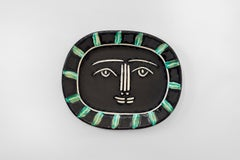 Pablo Picasso - Madoura Ceramic: Grey Face (Visage gris)