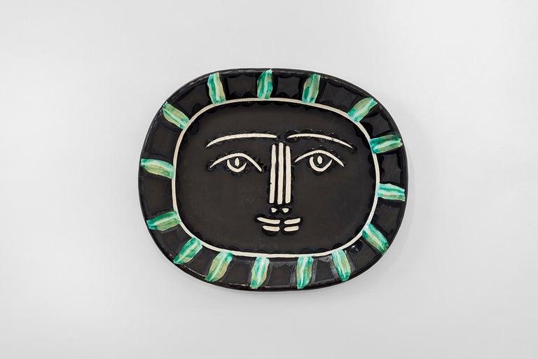 Pablo Picasso - Madoura Ceramic: Grey Face (Visage gris) - Art by Pablo Picasso