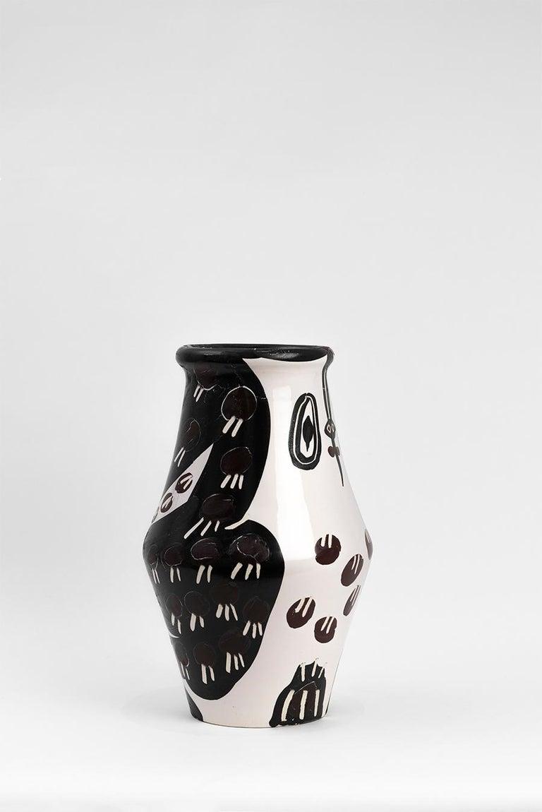 Pablo Picasso - Madoura Ceramic: Black and Brown Owl (Hibou Marron Noir) For Sale 4