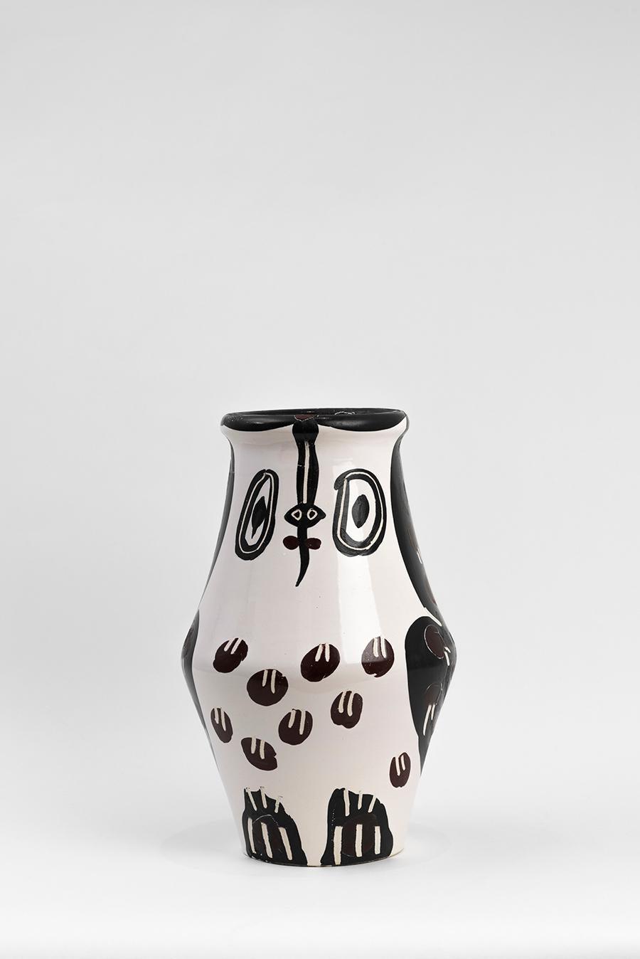 Pablo Picasso - Madoura Ceramic: Black and Brown Owl (Hibou Marron Noir)