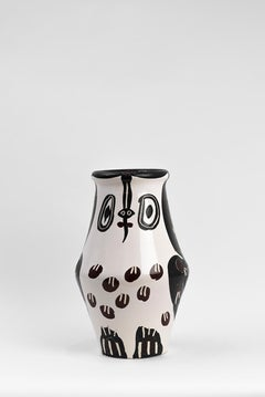 Pablo Picasso - Madoura Ceramic: Black and Brown Owl (Hibou Marron Noir)