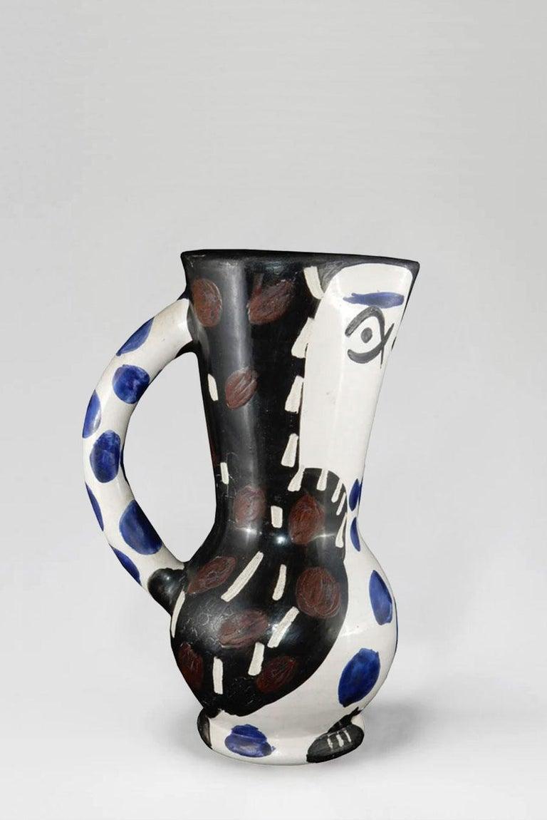 Pablo Picasso - Madoura Ceramic: Small Owl Jug (Petit Pichet de Hibou) For Sale 1