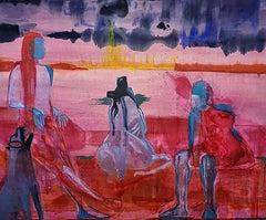 The Howl, 2021 - Ziad Kaki (Abstract Oil Painting)