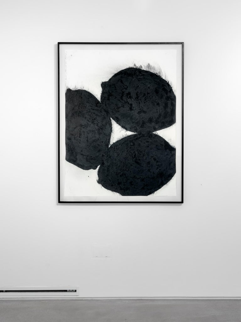 Black Lemons, 21 March 1985 - Donald Sultan (Abstract Drawings and Watercolours) - Contemporary Art by Donald Sultan