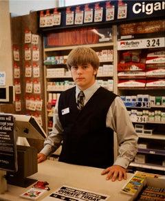 Omaha Sketchbook: John, Service Clerk, Cubby's Grocery Store, Omaha, NE