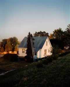 Omaha Sketchbook: Ladder and House, Omaha, NE - Contemporary Photography