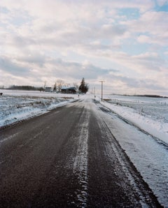 Omaha Sketchbook: Road in Snow - Contemporary Photography, American