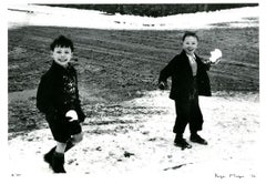Two Boys With Snowballs, London, 1955