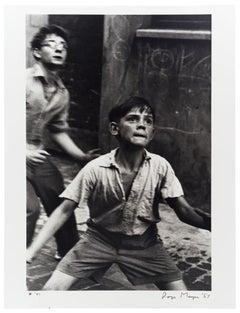 Street Cricket, Addison Place, N. Kensington, 1957
