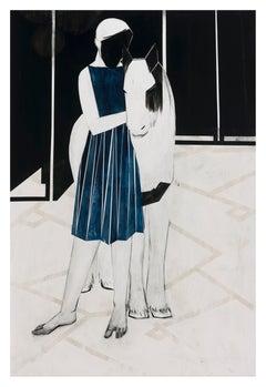 Horse/blue dress (R&M), 2021 - Iris Schomaker (Watercolour)