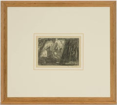 James Cowie RSA - 20th Century Scottish Graphite Drawing, County Houses Bothwell