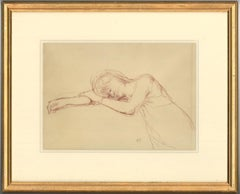 Bernard Dunstan RA RWA (1920-2017) Signed & Framed English Pastel, Woman Resting