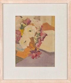 Jenny Wheatley RWS (b.1959) - Signed 1980 Modern British Watercolour, Still Life
