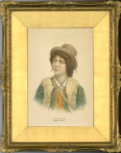 Andrea Finardi - Gilt Framed 19th Century Italian Watercolour, The Young Italian