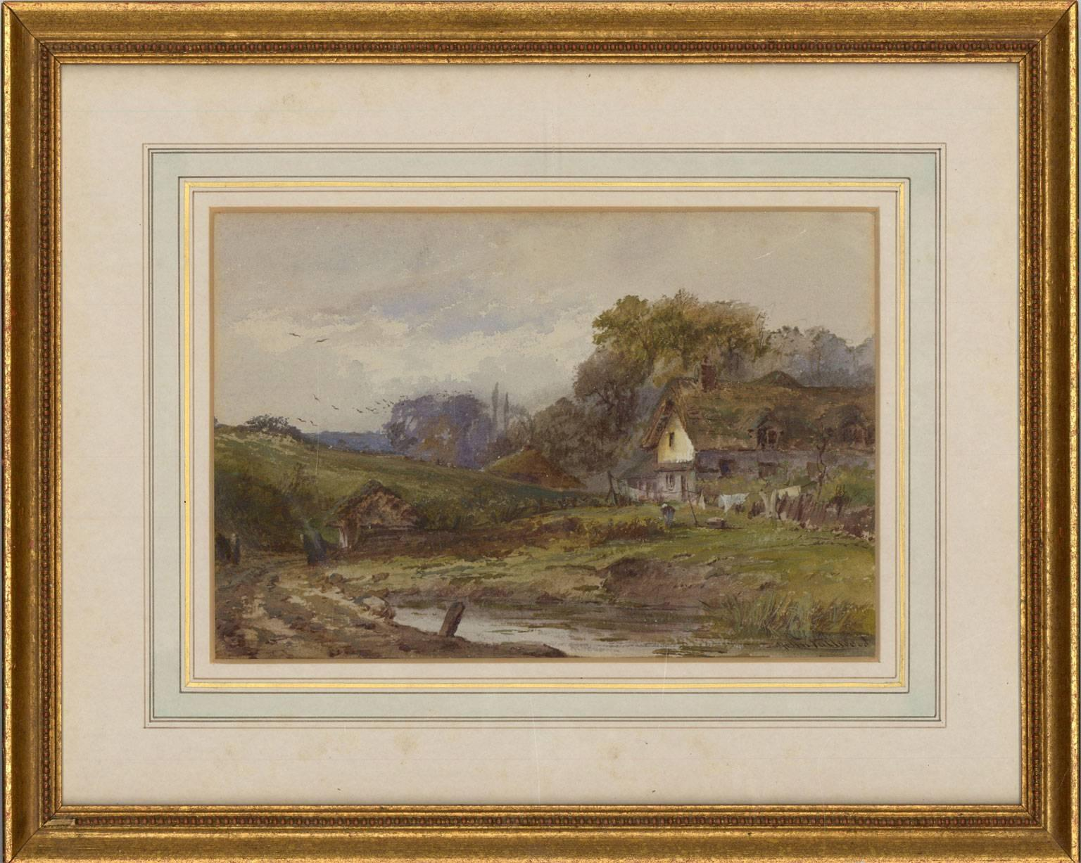 John Fulwood (1854-1931) - Signed English Watercolour, Cottage in a Landscape