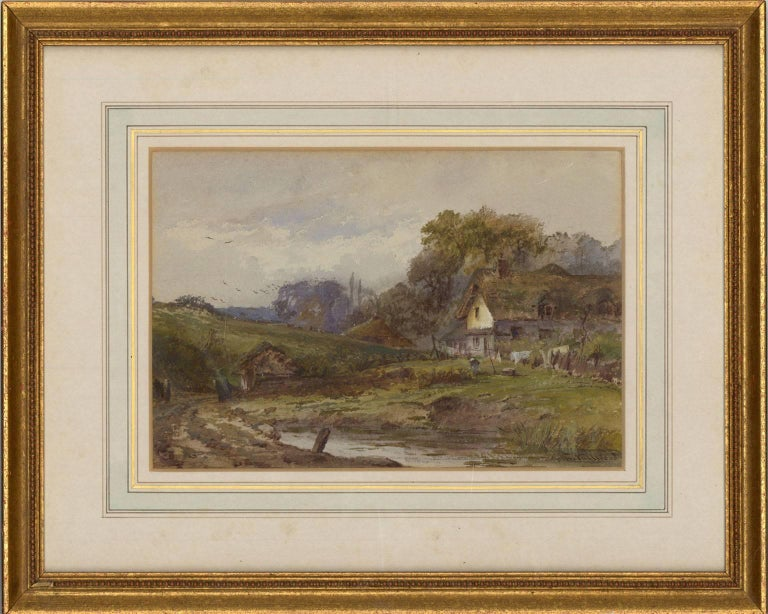 John Fulwood (1854-1931) - Signed English Watercolour, Cottage in a Landscape - Painting by John Fulwood