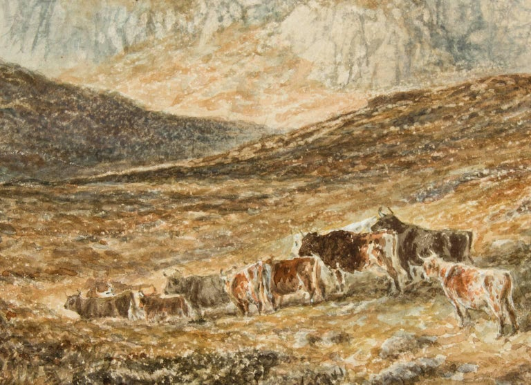 Attributed to Alfred H. Green - 19th Century Watercolour, Scottish Highlands - Beige Landscape Painting by Alfred H. Green