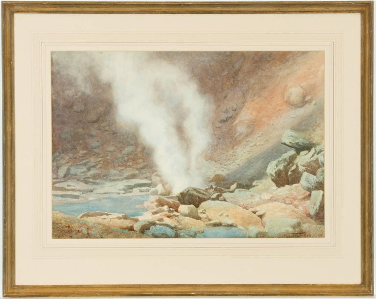 Robert George Talbot Kelly RI, RBA (1861-1934) - 1890 Watercolour, The Geyser - Painting by Robert George Talbot Kelly