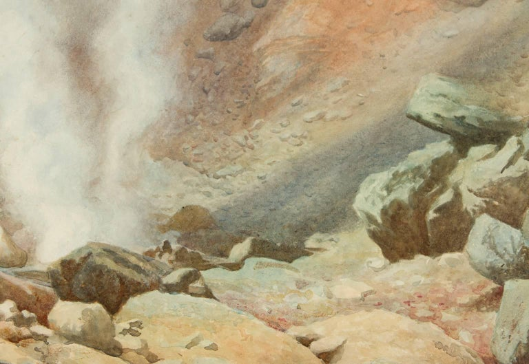 Robert George Talbot Kelly RI, RBA (1861-1934) - 1890 Watercolour, The Geyser - Victorian Painting by Robert George Talbot Kelly