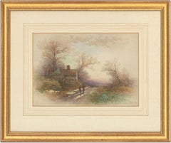 Stephen James Bowers (fl.1874-1892) - Two English Watercolours, Rural Landscapes